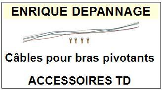 JEUX DE CÂBLES POUR BRAS PIVOTANTS  pour Tourne-disques <br><small>a 2014-04</small>