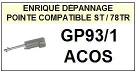 ACOS-GP93/1-POINTES-DE-LECTURE-DIAMANTS-SAPHIRS-COMPATIBLES