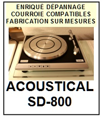 ACOUSTICAL-SD800 SD-800-COURROIES-COMPATIBLES