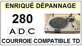 ADC 280  Courroie Tourne-disques <small>13-10</small>
