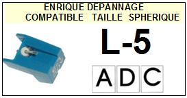 ADC-L5 L-5-POINTES-DE-LECTURE-DIAMANTS-SAPHIRS-COMPATIBLES