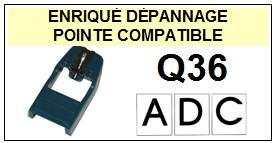 ADC  Q36    Pointe de lecture compatible Diamant sphérique