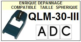 ADC-QLM30III QLM30 III-POINTES-DE-LECTURE-DIAMANTS-SAPHIRS-COMPATIBLES
