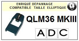 ADC<br> QLM36MKIII  Pointe (stylus) Diamant Elliptique<small> 2015-10</small>