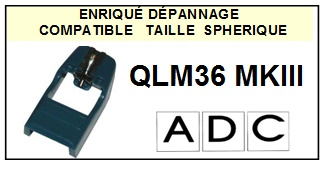 ADC<br> QLM36MKIII MK3 Pointe (stylus) Diamant sphérique<small> 2015-10</small>