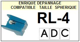 ADC RL4 RL-4 Pointe Diamant sphérique <small>13-08</small>