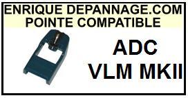 ADC VLM-MKII Pointe de lecture compatible diamant sphérique