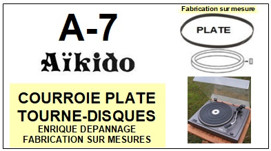AIKIDO-A7 A-7-COURROIES-COMPATIBLES