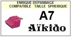 AIKIDO-A7 A-7-POINTES-DE-LECTURE-DIAMANTS-SAPHIRS-COMPATIBLES