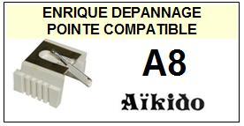 AIKIDO Platine  A8    Pointe de lecture Compatible diamant sphérique