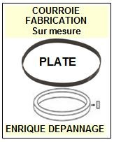 AIWA 8248126401 82-481-264-01 <br>courroie plate référence aiwa (<B>flat belt manufacturer number</B>)<small> 2016-10</small>