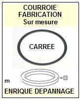 AIWA 8248126601 82-481-266-01 <BR>Courroie carrée référence aiwa (<B>square belt</B> manufacturer number)<small> 2016-10</small>