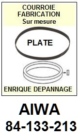 AIWA 84133213 84-133-213 <br>courroie plate référence aiwa (<B>flat belt manufacturer number</B>)<small> 2017 AVRIL</small>