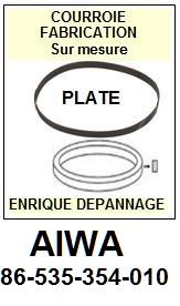 FICHE-DE-VENTE-COURROIES-COMPATIBLES-AIWA-86535354010 86-535-354-010
