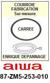 AIWA<br> 87ZM5253010 87-ZM5-253-010 courroie (square belt) référence aiwa <br><small> 2015-06</small>