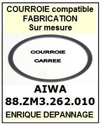 FICHE-DE-VENTE-COURROIES-COMPATIBLES-AIWA-88ZM3262010 88-ZM3-262-010