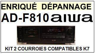 AIWA-ADF810 AD-F810-COURROIES-COMPATIBLES