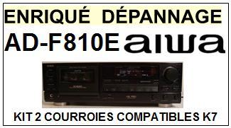 AIWA ADF810E AD-F810E kit 2 Courroies Platine K7 <br><small>a 2014-06</small>