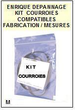 AIWA<br> ADF850K AD-F850K kit 2 courroies (set belts) pour platine K7 <br><small> 2015-03</small>
