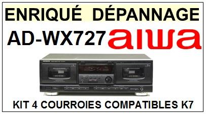 AIWA-ADWX727 AD-WX727-COURROIES-ET-KITS-COURROIES-COMPATIBLES