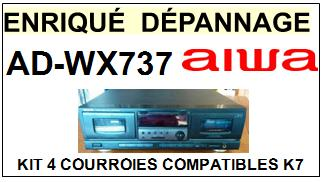 AIWA-ADWX737 AD-WX737-COURROIES-COMPATIBLES