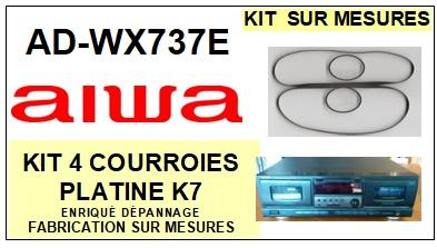 AIWA-ADWX737E AD-WX737E-COURROIES-ET-KITS-COURROIES-COMPATIBLES