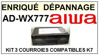 AIWA-ADWX777 AD-WX777-COURROIES-ET-KITS-COURROIES-COMPATIBLES