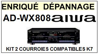 AIWA-ADWX808 AD-WX808-COURROIES-COMPATIBLES