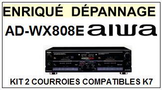AIWA-ADWX808E AD-WX808E-COURROIES-COMPATIBLES