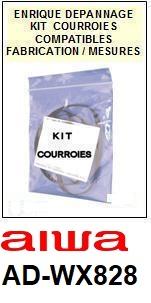 AIWA-ADWX828 AD-WX828-COURROIES-ET-KITS-COURROIES-COMPATIBLES