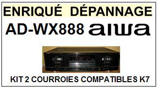 AIWA-ADWX888 AD-WX888-COURROIES-ET-KITS-COURROIES-COMPATIBLES