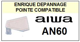AIWA AN60  Pointe de lecture compatible Diamant sphérique