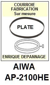 AIWA-AP2100HE AP-2100HE-COURROIES-COMPATIBLES