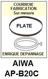 AIWA-APB20C AP-B20C-COURROIES-COMPATIBLES