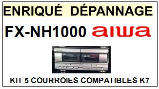 AIWA-FXNH1000 FX-NH1000-COURROIES-COMPATIBLES
