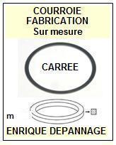 AIWA<br> HSG11 HS-G11 Courroie (square belt) pour Baladeur Walkman<BR><SMALL>a 2015-01</small>