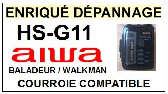 AIWA-HSG11 HS-G11-COURROIES-ET-KITS-COURROIES-COMPATIBLES