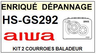 AIWA-HSGS292 HS-GS292-COURROIES-ET-KITS-COURROIES-COMPATIBLES