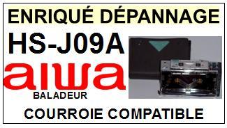 AIWA<br> HSJ09A HS-J09A Courroie (square belt) pour baladeur walkman k7 <br><small> 2015-07</small>