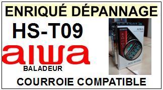 AIWA<br> HST09 HS-T09 Courroie (square belt) pour baladeur walkman k7 <br><small>a 2015-07</small>