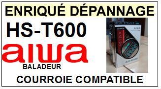 AIWA-HST600 HS-T600-COURROIES-ET-KITS-COURROIES-COMPATIBLES