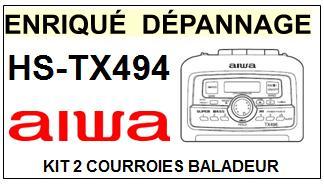 AIWA-HSTX494 HS-TX494-COURROIES-ET-KITS-COURROIES-COMPATIBLES