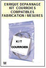 AIWA  HSTX596  HS-TX596  kit 2 Courroies Compatibles Baladeur