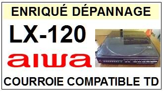 AIWA-LX120 LX-120 (COURROIE COMPTEUR)-COURROIES-COMPATIBLES