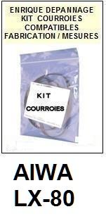 AIWA-LX80 LX-80-COURROIES-ET-KITS-COURROIES-COMPATIBLES