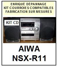 AIWA-NSXR11 NSX-R11-COURROIES-COMPATIBLES