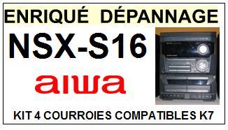 AIWA-NSXS16 NSX-S16-COURROIES-ET-KITS-COURROIES-COMPATIBLES