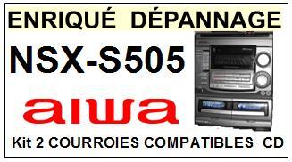 AIWA-NSXS505 NSX-S505-COURROIES-COMPATIBLES