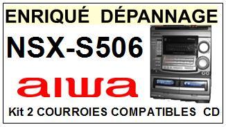 AIWA NSXS506 NSX-S506 kit 2 Courroies Platine CD <small> 13-08</small>