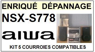 AIWA-NSXS778 NSX-S778-COURROIES-ET-KITS-COURROIES-COMPATIBLES
